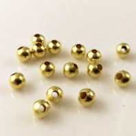 500 Gold  plated round spacer beads 2.5mm
